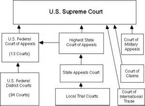 A very simplified, very brief description of the structure of the appellate courts in the U.S.